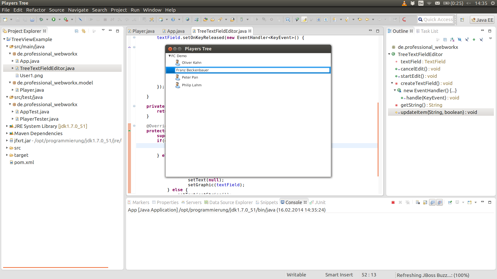 JavaFX: Add new Player to our TreeView – Das JAVA-Hilfe Blog
